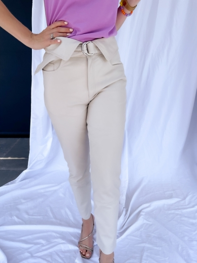Faville leather pants powder puff