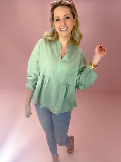 Frigg coton blouse logo