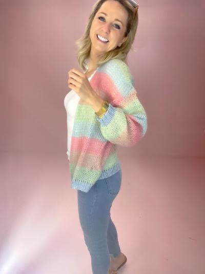 Filuca Stripe knit Mint