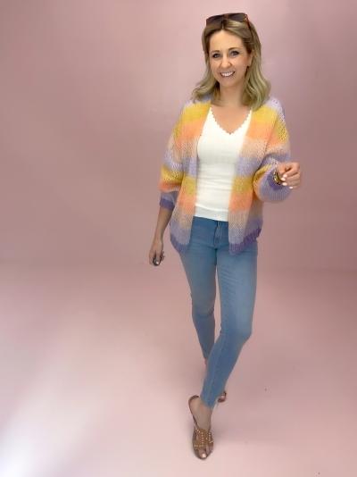 Filuca Stripe knit Peach