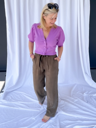 Garbo relaxed pants Ivy green
