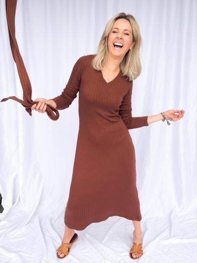 Margaret dress cappucino
