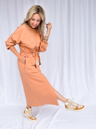 Julia dress sandstone