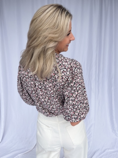 Cecily Flower shirt black