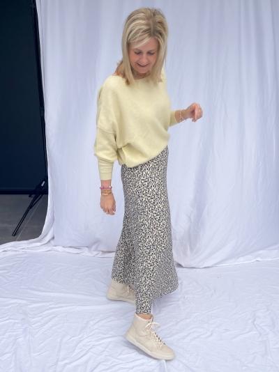 Shaddow Flower skirt yellow