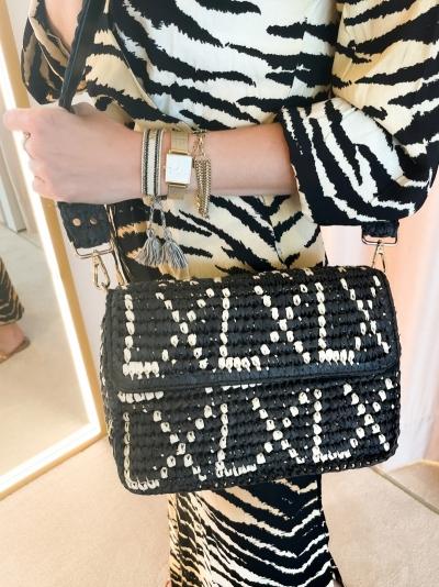 Paper Crochet bag black