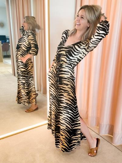 Woven Tiger dress animal
