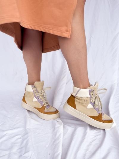 Vana high sneakers brown/lila