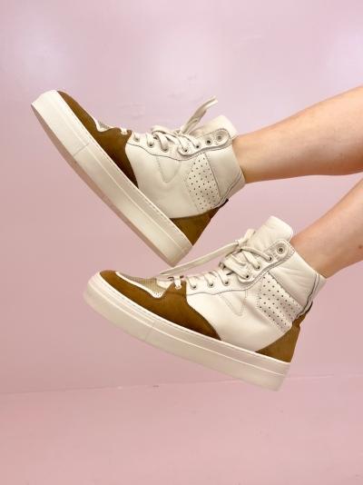Vana high sneakers brown/gold