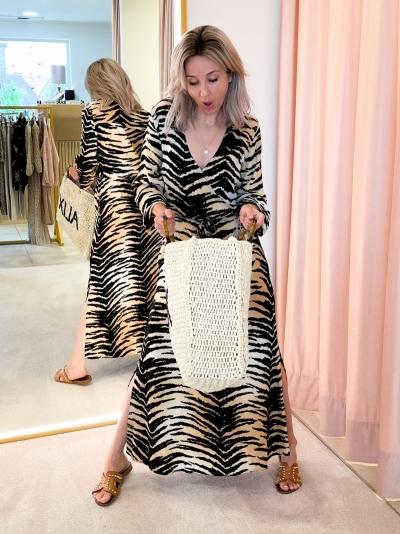 Woven Paper shopper ecru