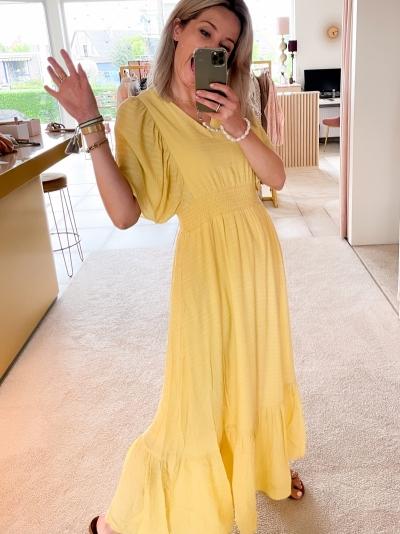 Cora Smock dress lemon