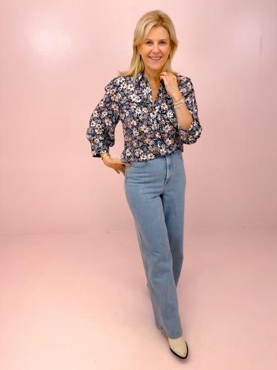 Regitze blouse blauw
