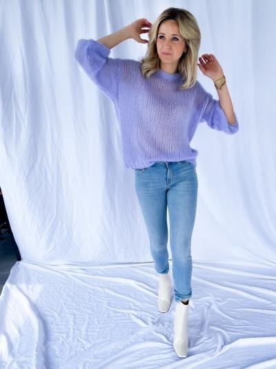 Delta knit lilac
