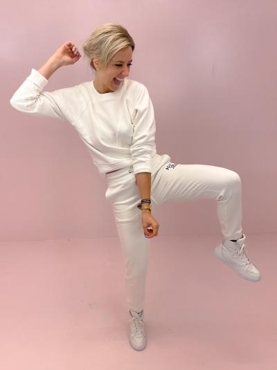 Sweat pants soft white