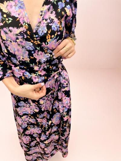Woven Flower dress multi color