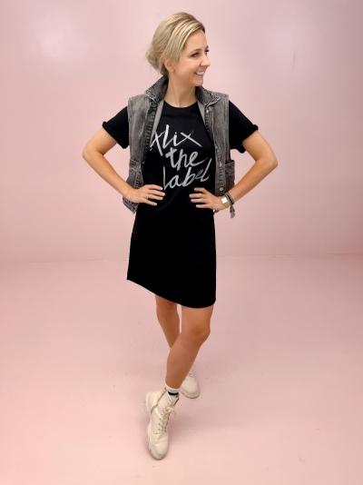 Alix Sweat dress logo