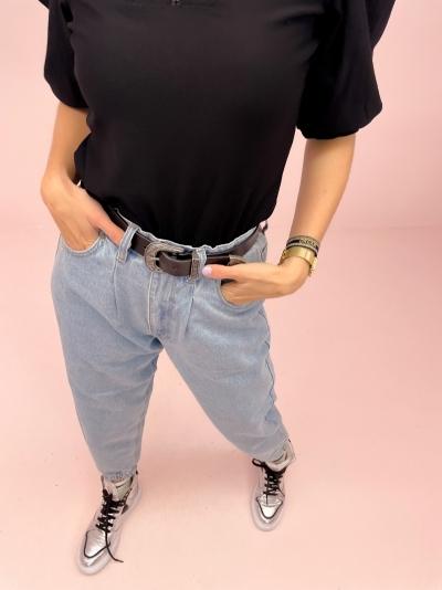 FQBagger cuff jeans light blue deni