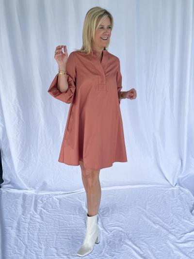 Adrienne Dress popeline clay