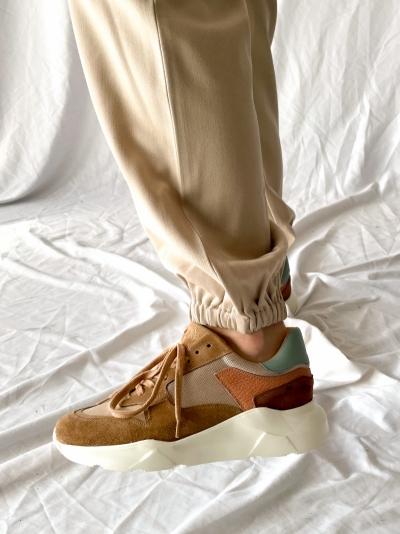 Column sneaker brown mix