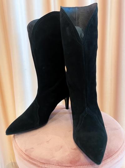 Western boot black