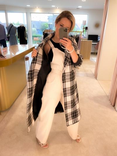 Maud coat camel black bei