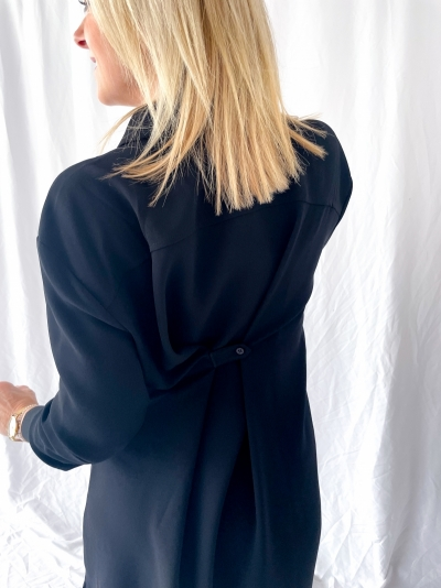 Melissa shirt dress black