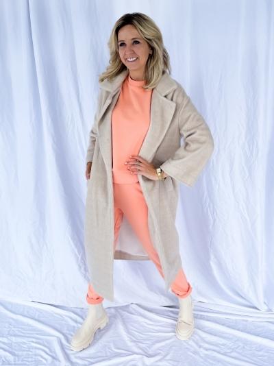 Manteau chine beige