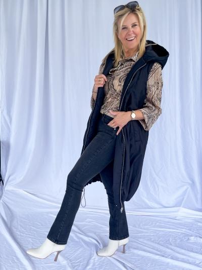 Jeans droit gris fonce