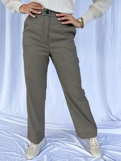 Pantalon pied de poule logo