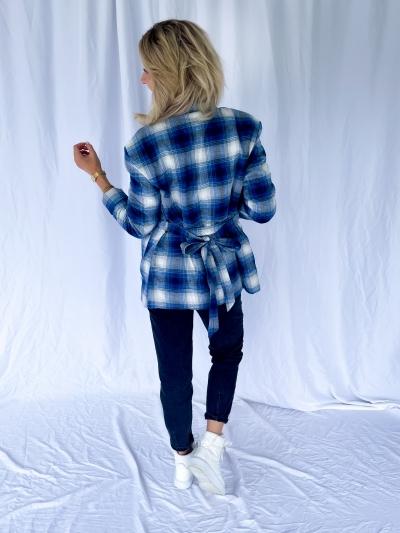 Rosie kimono blue checks