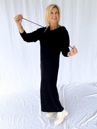 Tess knitted dress black
