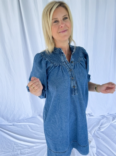 Jeanie dress blue denim