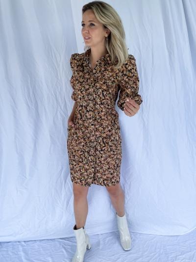 Mayda dress Toasted nut
