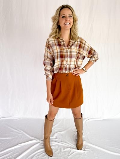 Bilana belted skirt logo