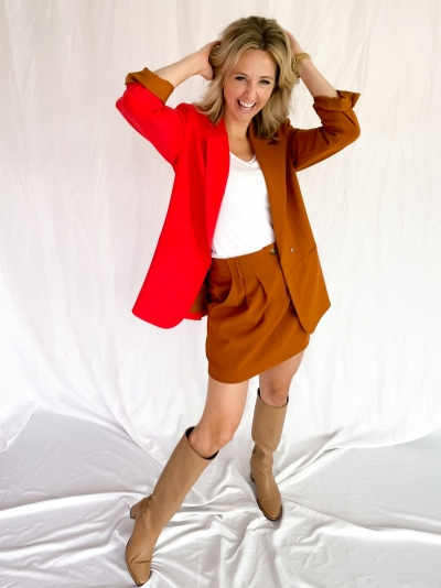 Bilana belted skirt glazed ginger
