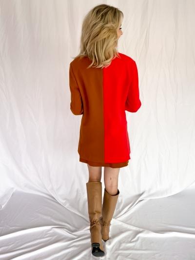 Bilania Colourblock jacket poppy red-glaze