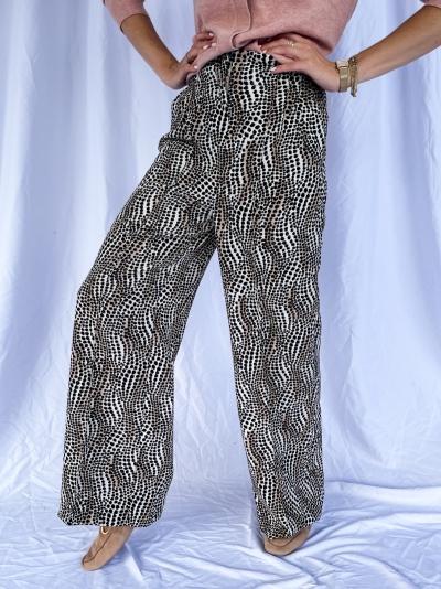 Dots flowy pants logo