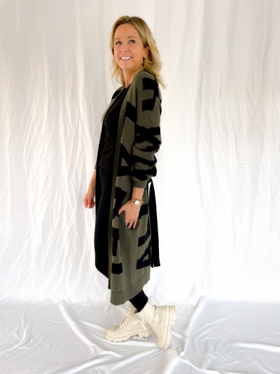 Knitted Alix Cardigan dusty army