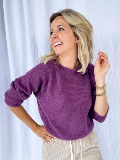 Short AT pull dusty purple