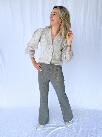 Marisol Flared pants black/white