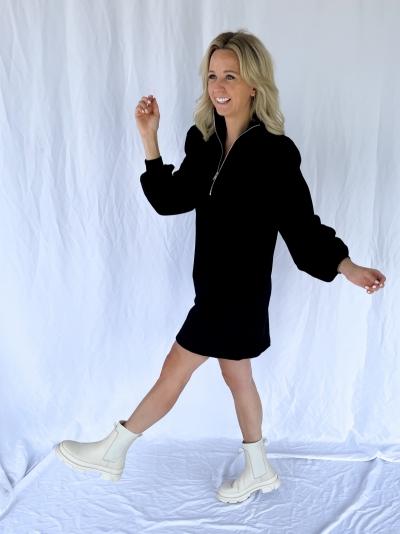 Nankita zipper dress black