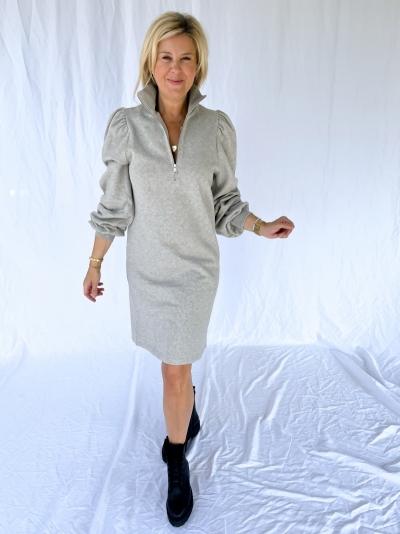 Nankita zipper dress light grey mela