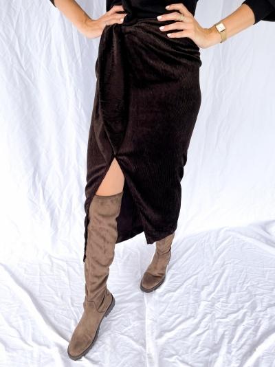 Estelle Velvet skirt logo