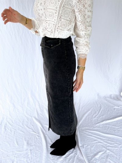 Bianco skirt black