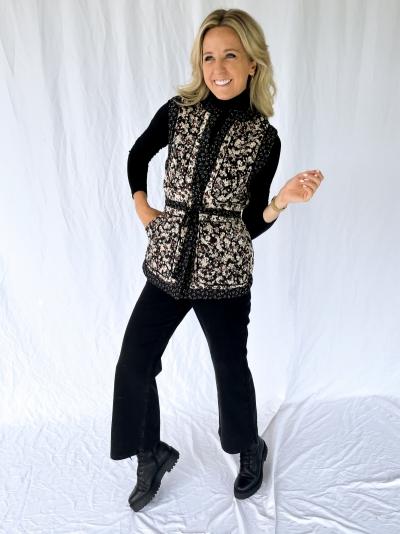 Annie Quilt waistcoat black