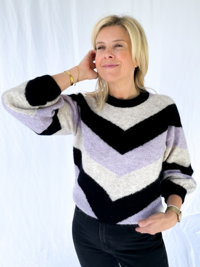Alpha M pullover pastel lilac st
