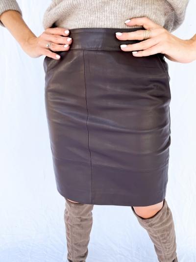 Char vegan mini skirt logo