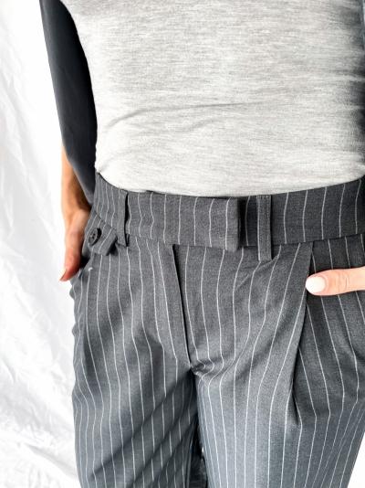 Pinstripe Suit trousers grey pinstripe