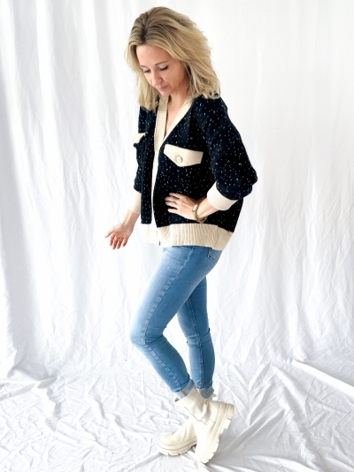 Oversized knit Cardigan black