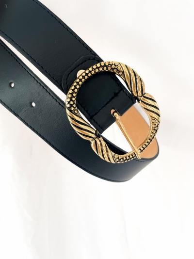Jurk ceinture noir